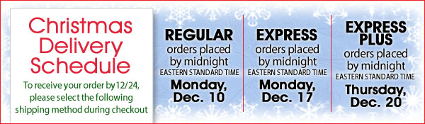 Christmas Delivery Schedule