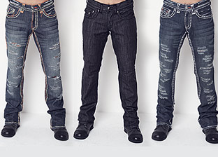 Denim Shop for Him: Laguna beach, Rock & Republic, D&G