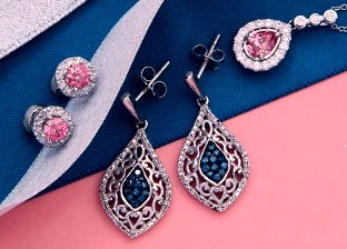 Pink & Blue Diamonds