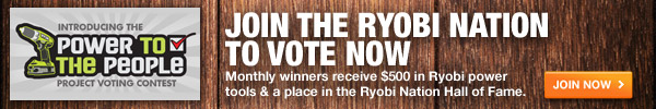 Join the Ryobi Nation to Vote Now
