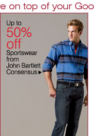 Up to 50% off Sportswear from John Bartlett  Consensus