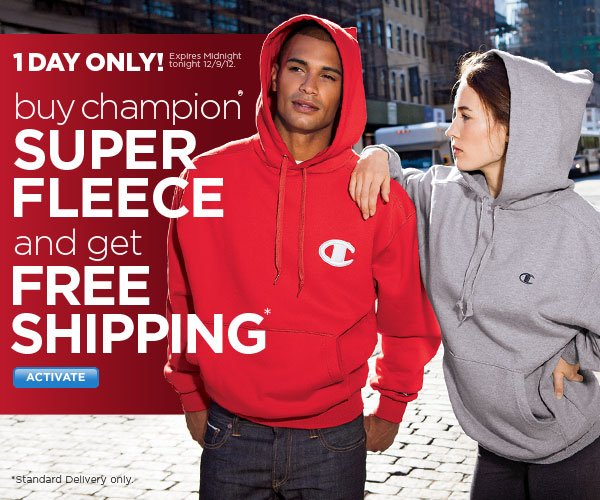 FREE Shipping with Champion(R) Super Fleece
