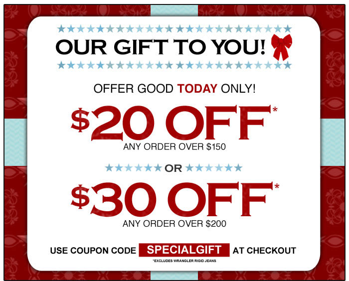 $20 to $30 off Coupon
