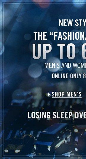UP TO 60% OFF / SHOP MEN'S
