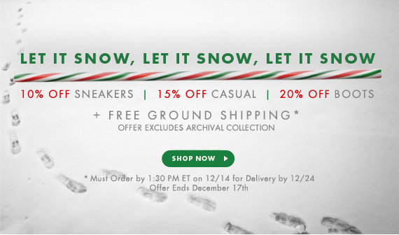 Let It Snow! 10-30% Off + All Orders Ship Free