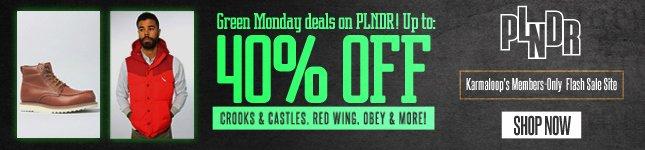 Green Monday Deals on PLNDR!