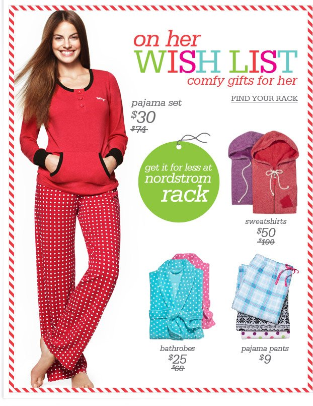 on her WISH LIST - comfy gifts for her - FIND YOUR RACK