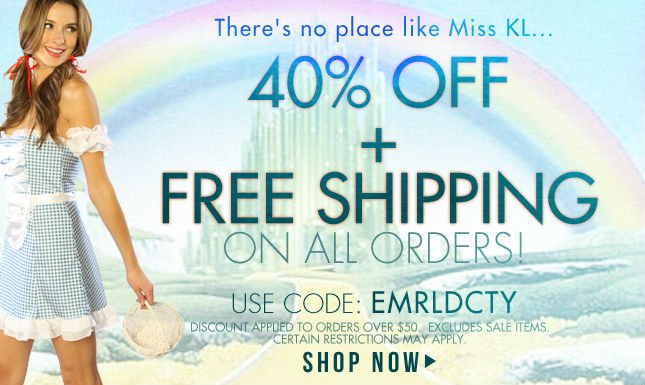 40% + Free Shipping on All Orders over $50.