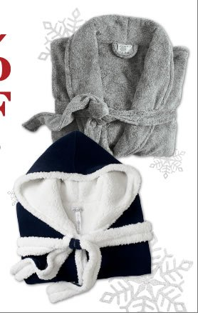 shop all robes and save 50%!