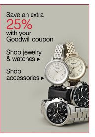 Save an extra 25% with your Goodwill coupon. Shop jewelry & watches