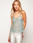 ASOS Swing Cami With All Over Crystal Embellishment
