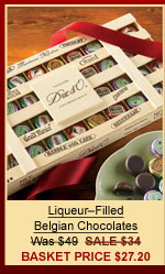 Liqueur–Filled Belgian Chocolates Was $49 | SALE $34 | Basket Price $27.20
