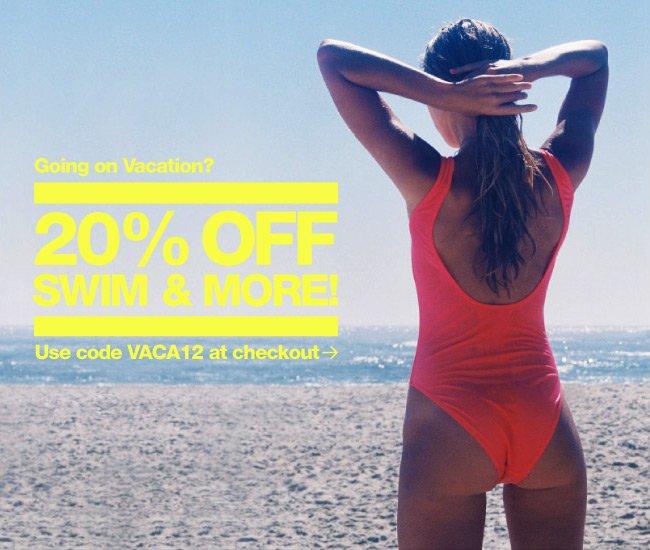 Swim Sale 20% Off