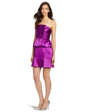 Tracy Reese  <br/>Draped Peplum Strapless Dress