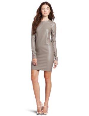 BCBGMAXAZRIA  <br/>Faux Leather Sportswear Dress