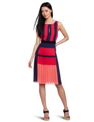 BCBGMAXAZRIA  <br/>Jeisa Color Block Pleated Dress