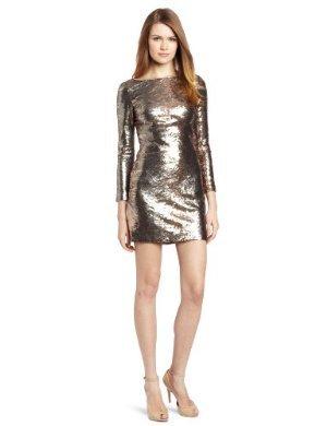 Jessica Simpson <br/> Long Sleeve V-Back Dress