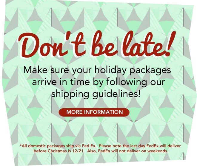 Shipping Guide!