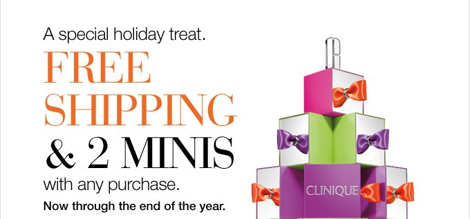 Our first holiday treat.  FREE standard shipping with any purchase. Now through the end of the  year.