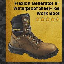 "Flexion Generator 8"" Waterproof Steel-Toe Work Boot"