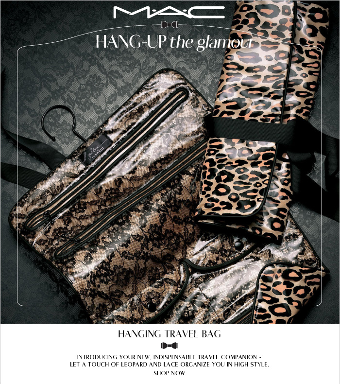 Introducing your new, indispensable travel companion - Let a touch of leopard and lace organize you in high style. SHOP NOW
