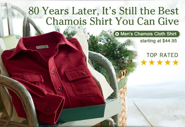 80 Years Later, It's Still the Best Chamois Shirt You Can Give. Top Rated.