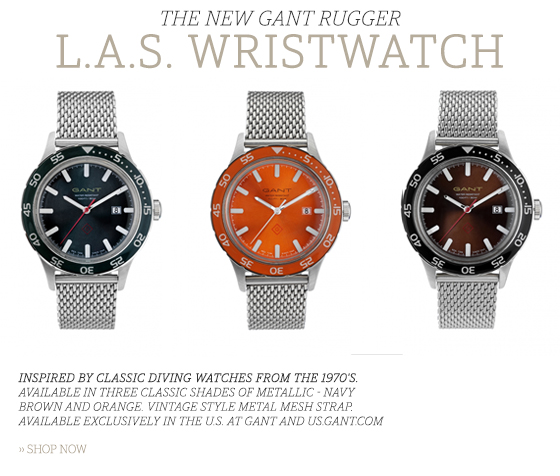 THE NEW GANT RUGGER L.A.S. WRISTWATCH