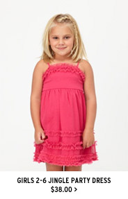 Girls 2-6 Jingle Party Dress $38.00