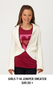 Girls 7-14 Juniper Sweater $49.50