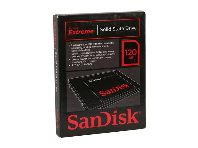 SanDisk Extreme SDSSDX-120G-G25 2.5 inch 120GB SATA III Internal Solid State Drive (SSD)