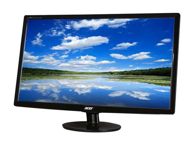 Acer S271HLbid Black 27 inch 5ms HDMI Widescreen LED Monitor 250 cd/m2 ACM 100,000,000:1 (1000:1)