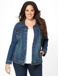 Medium Stone Denim Stitch Jacket