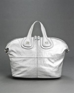 Givenchy NWT Metallic Silver Nightengale Handbag