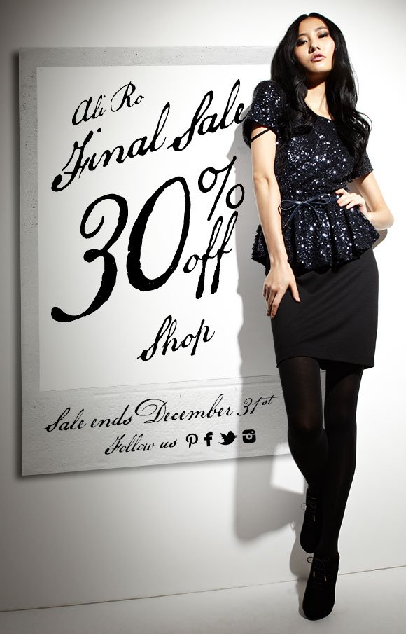 Ali Ro Final Sale 30% off Ends December 31st