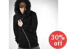 Faux Fur Trimmed Hood Jacket