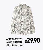 Women Cotton Lawn Printed Shirt (more colors)