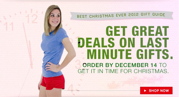 Get great deals on last minute gifts. Order by December 14 to get in time for Christmas.