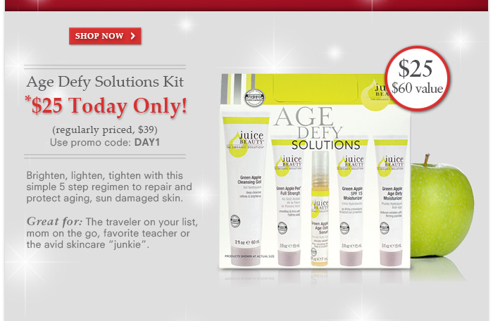 Age Defy Solutions Kit $25 Today Only! Use Promo Code: DAY1