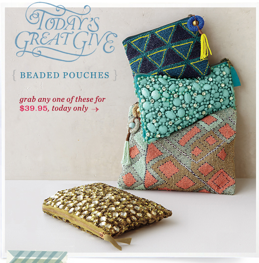 Today's Great Give: Beaded Pouches