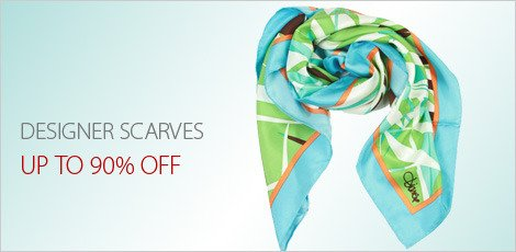 Designer scarves at 90% off
