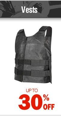 Vests - up to 30% off