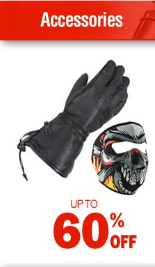 Motorcycle Accessories - up to 60% off