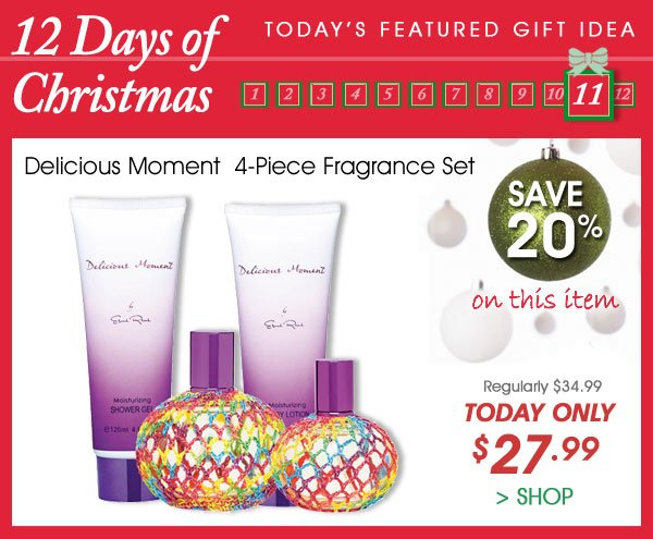 Today Only! Save 20% on Delicious Moment 4-Piece Fragrance Set - Only $27.99