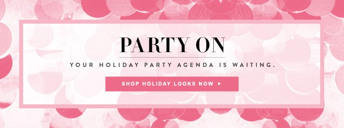 Party On - Your Holiday Party Agenda is Waiting.