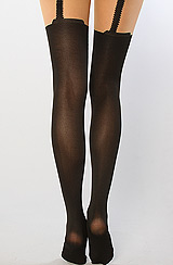 The Faux Garter Tights
