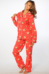 The Flannel Allover Printed PJ Pant Set