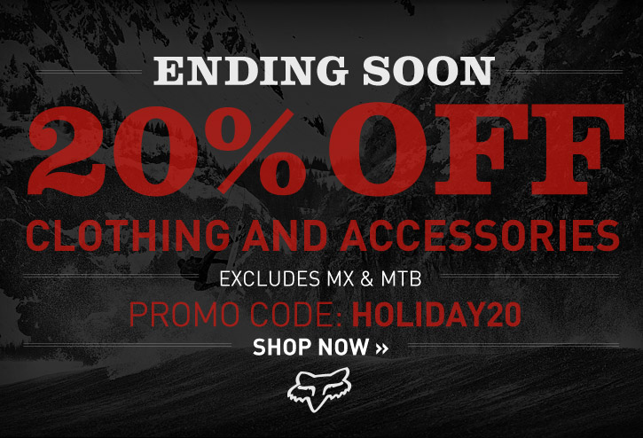 Limited Time - 20% Off Clothing And Accessories