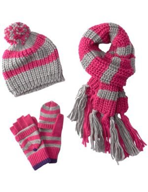 Berkshire <br/>Striped Cold Weather Hat Set