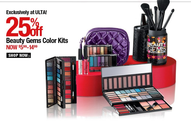Exclusively at ULTA! Beauty Gem Color Kits - 25% Off - Now $5.49-14.99. Shop Now.