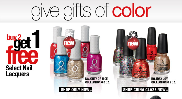 Buy 2, Get 1 Free Select Nail Lacquers